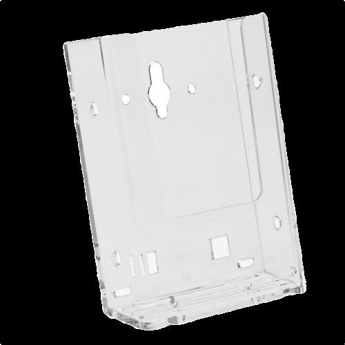 w4 wall mount single pocket tri fold brochure holder pop brochure holders. Black Bedroom Furniture Sets. Home Design Ideas