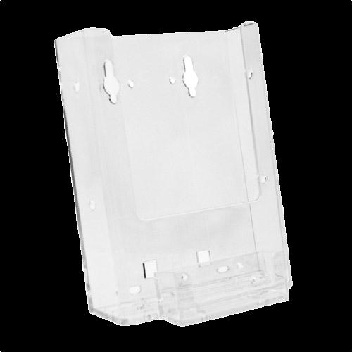 W6 combo wall mount single pocket half page brochure holder w w6 combo wall mount single pocket half page brochure holder w business card holder reheart Choice Image