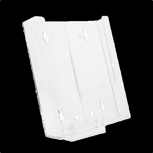 W8 Combo 1 Wall Mount Single Pocket Full Page Brochure Holder W